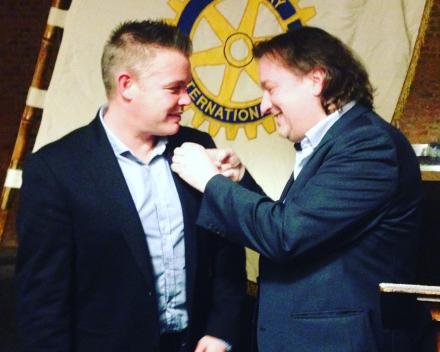Dries Aerts nieuw lid van Rotary Geel